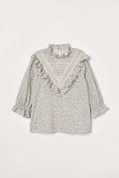 Ruffled Cotton Blouse