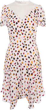 Karen Millen asymmetric leopard dress