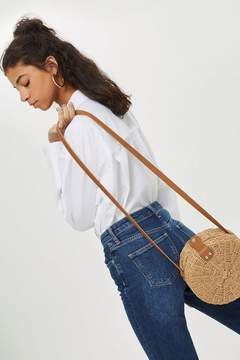 Topshop Barbar Straw Circle Bag