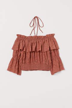 Jacquard-weave Bohemian top
