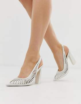White Slingbacks
