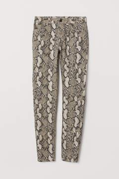 Snakeskin Patterned Trousers