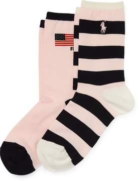 Ralph Lauren – Pink Pony Sock 2-Pack