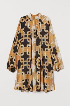 Satin 60s Print Dress