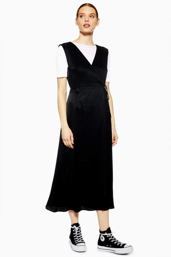 Topshop Womens **Pinafore Dress By Boutique - Black