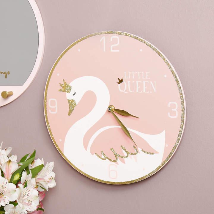 Dibor Swan Princess Children's Wall Clock