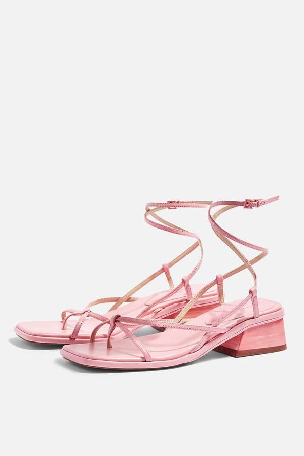 Topshop Womens Nova Pink Strappy Sandals - Pink
