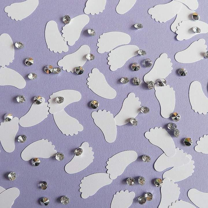 little treasures Tiny Toes Baby Shower Confetti