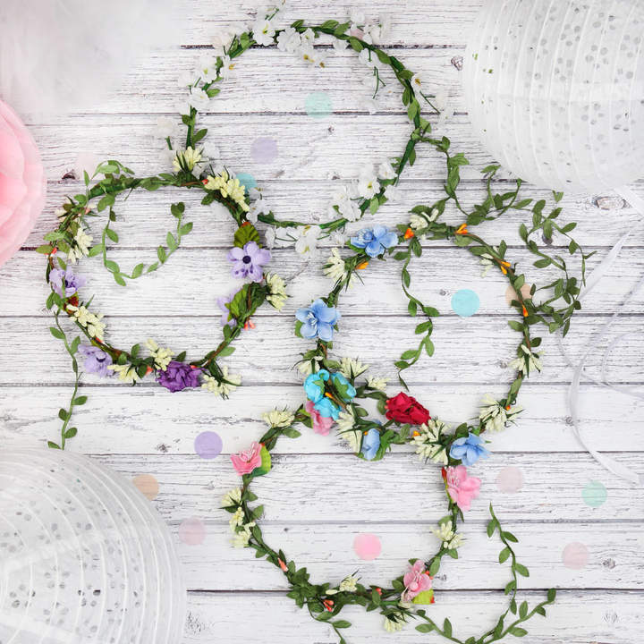Postbox Party Floral Headpiece Flower Crown