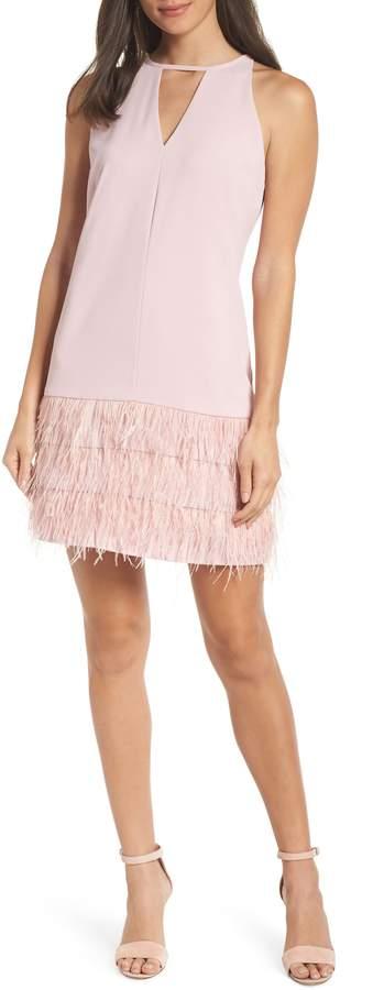 Sam Edelman Feather Hem Shift Dress
