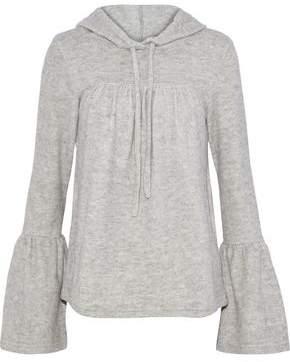 W118 By Walter Baker Carina Cotton-blend Fleece Hooded Sweatshirt
