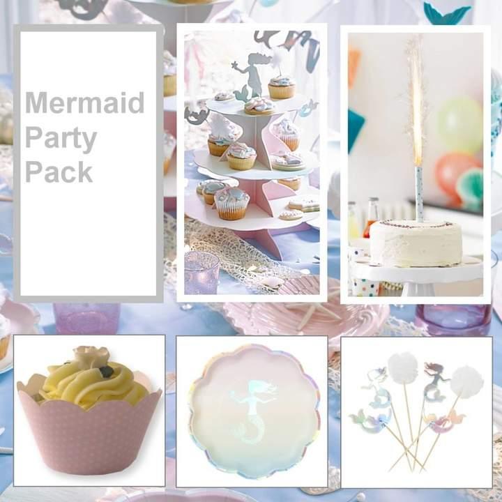 Bunting & Barrow Mermaids Party Tableware Pack