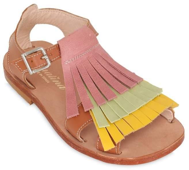 Sonatina Fringed Nappa Leather Sandals
