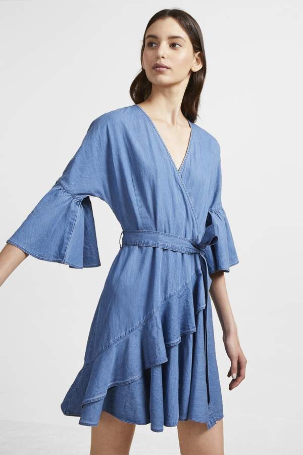 Ali Chambray Wrap Dress