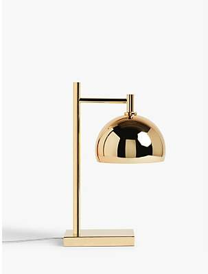 John Lewis & Partners Myers Banker Touch Table Lamp, Gold