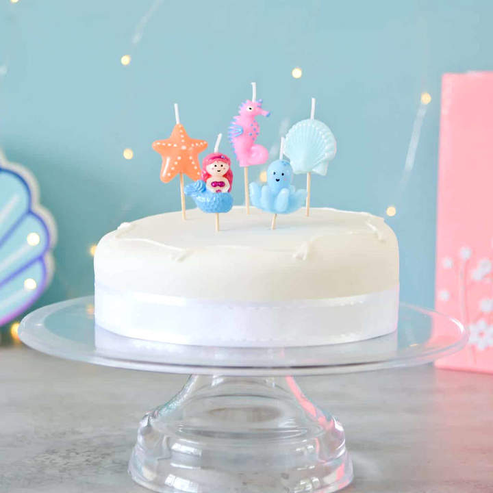 Peach Blossom Under The Sea Birthday Cake Party Candles