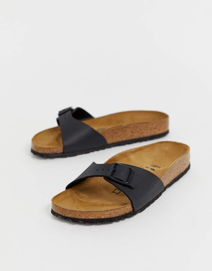 Birkenstock Madrid slide sandals in black