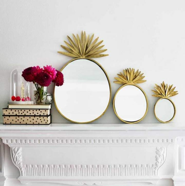The Best Room Pineapple Mirrors Set Of Three