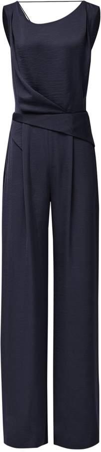 Reiss Benita - Low Back Detail Jumpsuit in Navy