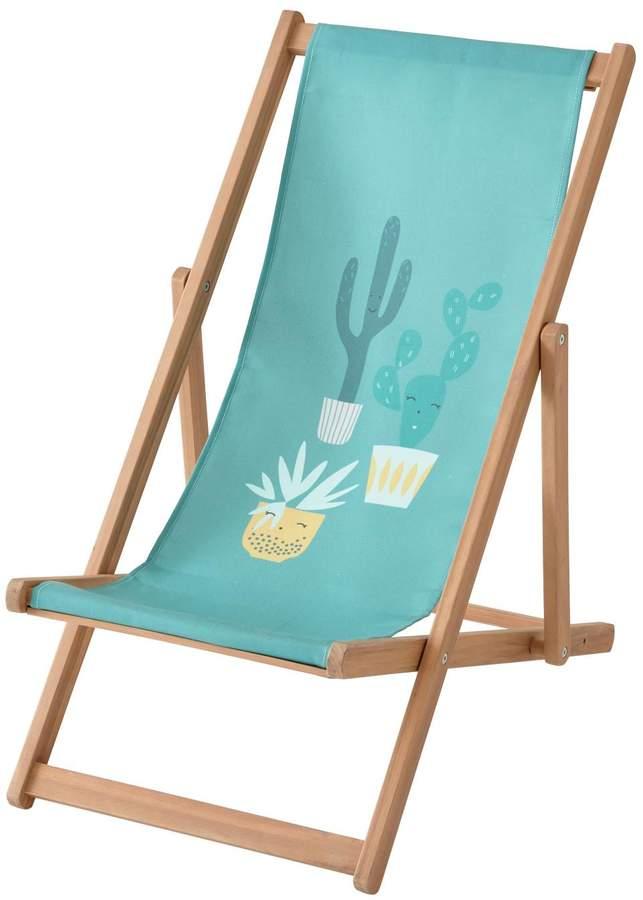 Vertbaudet Children's Deck Chair, Cactus