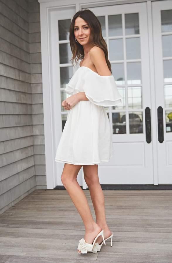 Convertible Ruffle Neck Fit & Flare Dress