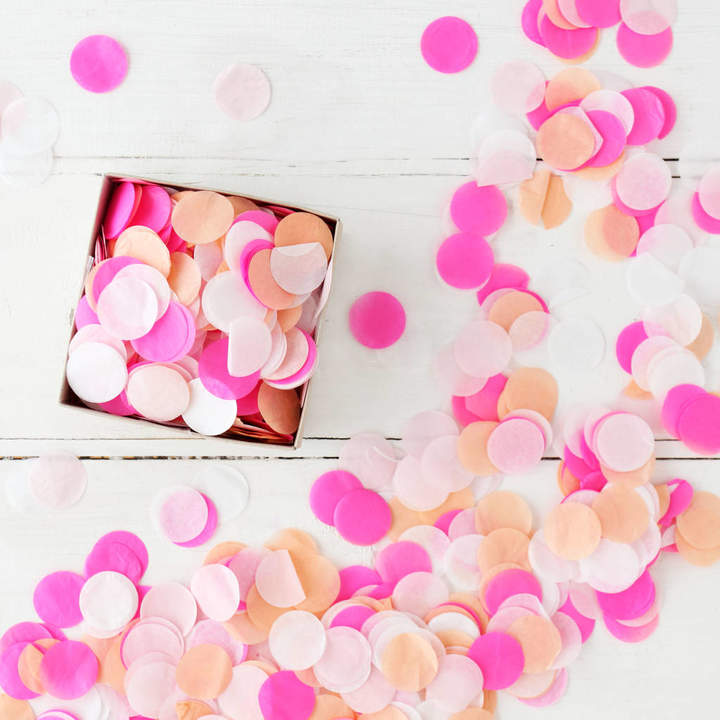 Postbox Party Pink Tone Party Confetti In A Box