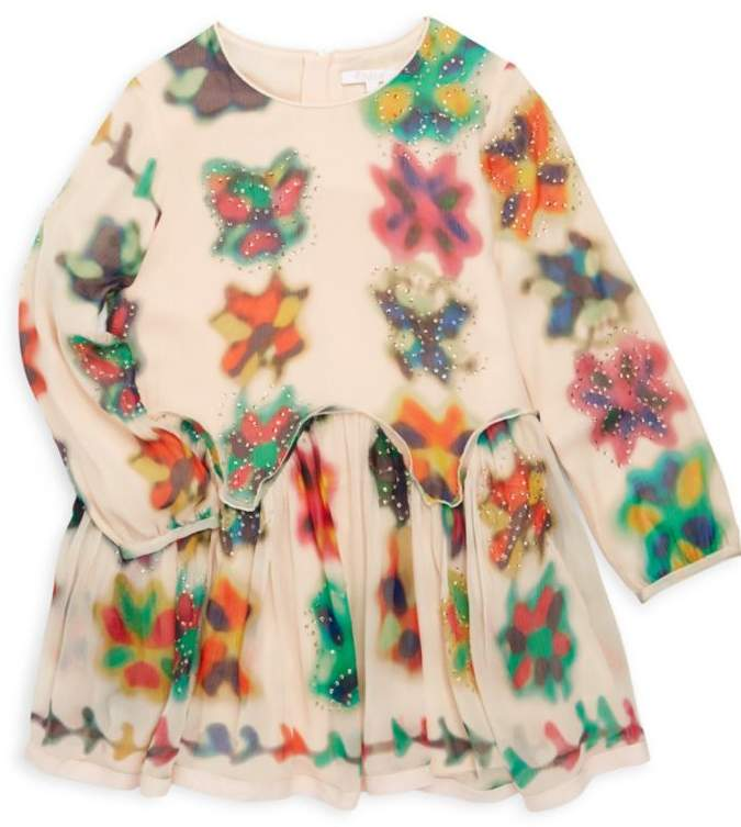 Chloé Little Girl's & Girl's Couture Watercolored Silk Dress
