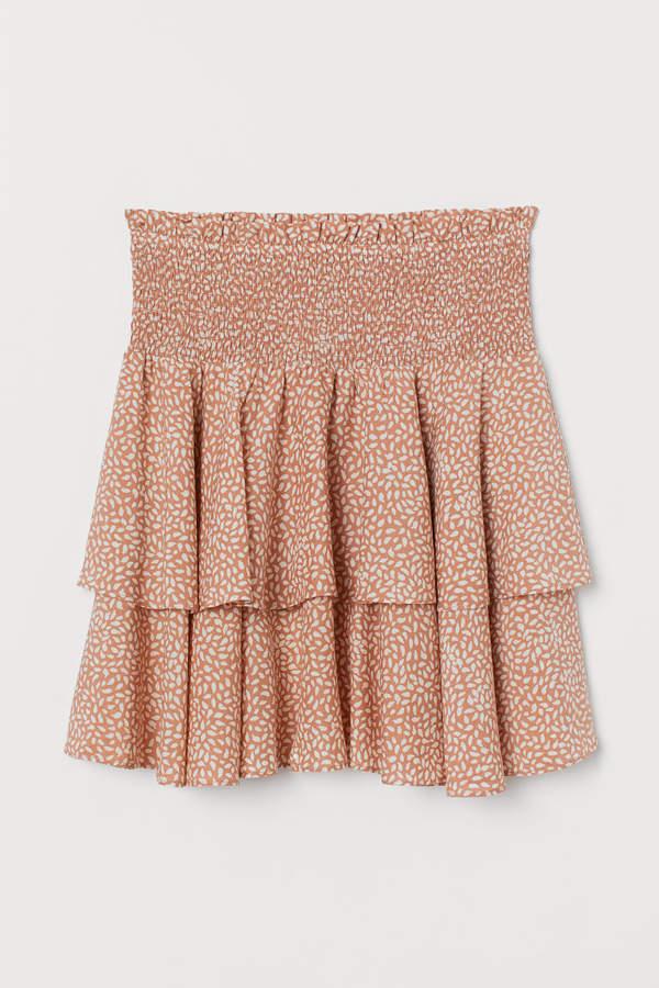 H&M - Lyocell-blend Skirt - Orange