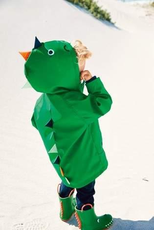 Boys Next Green Dinosaur Anorak (3mths-7yrs)