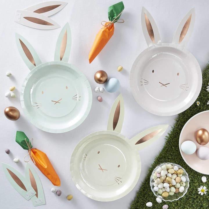 Little Lulubel Bunny Shaped Easter Plates