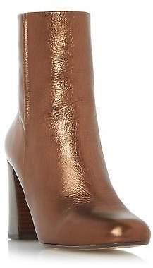 Dune Ladies OSMOND Flared Heel Ankle Boot in Bronze