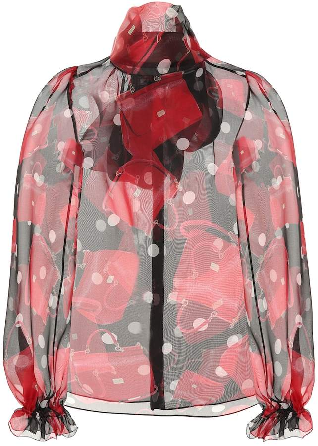 Dolce & Gabbana Sicily-print silk organza blouse
