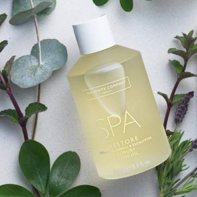 The White Company Spa Restore Luxury Bath Oil