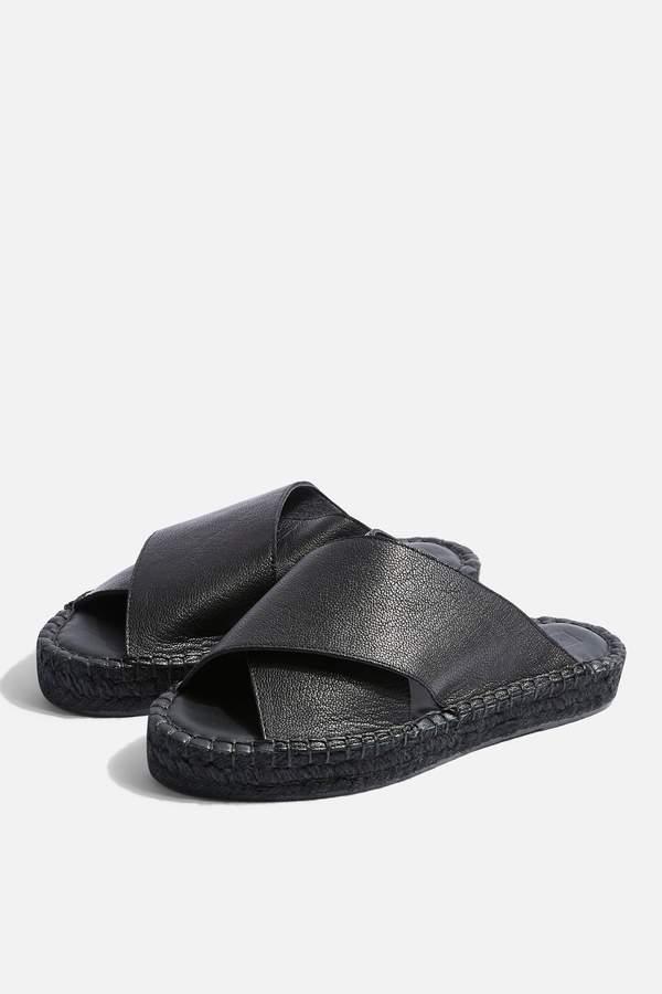 Topshop Womens Freddy Black Espadrille Sandals - Black