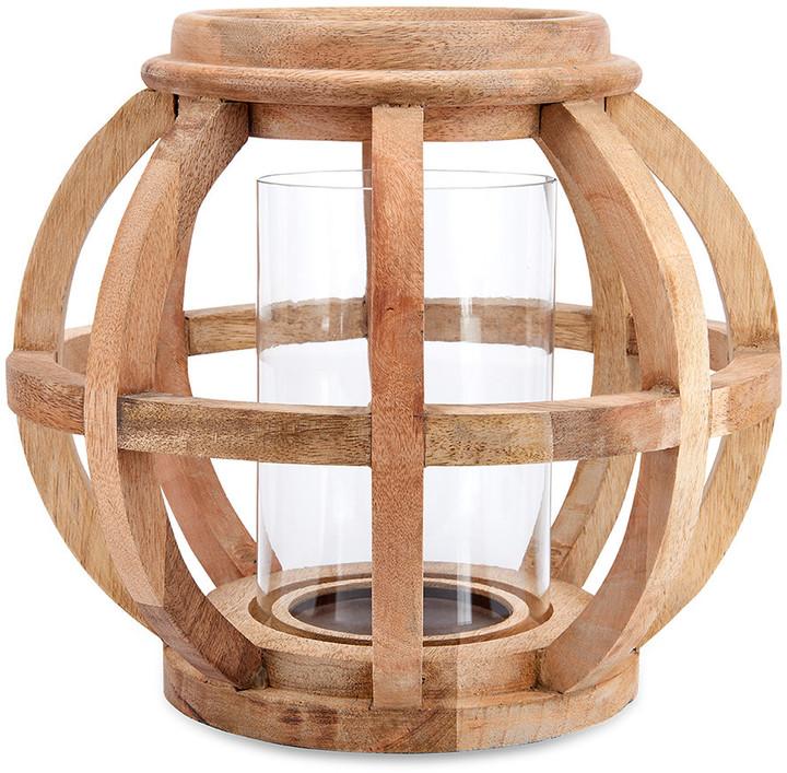 Nkuku - Kabu Wooden Lantern - Mango Wood - Small