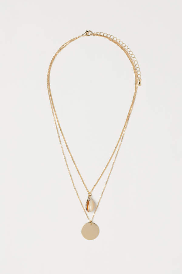 H&M - Double-strand Necklace - White
