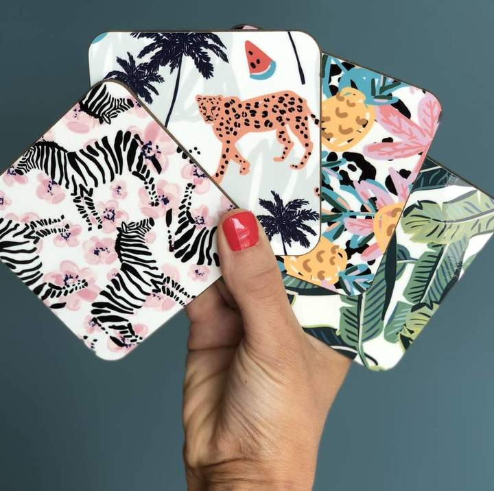 Hendog Designs Tropical Coasters Pack Of Four