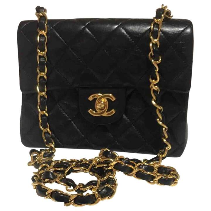 Vintage Chanel Timeless/Classique Black Leather Handbag