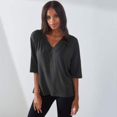 The White Company Jersey Cross V-Neck Top