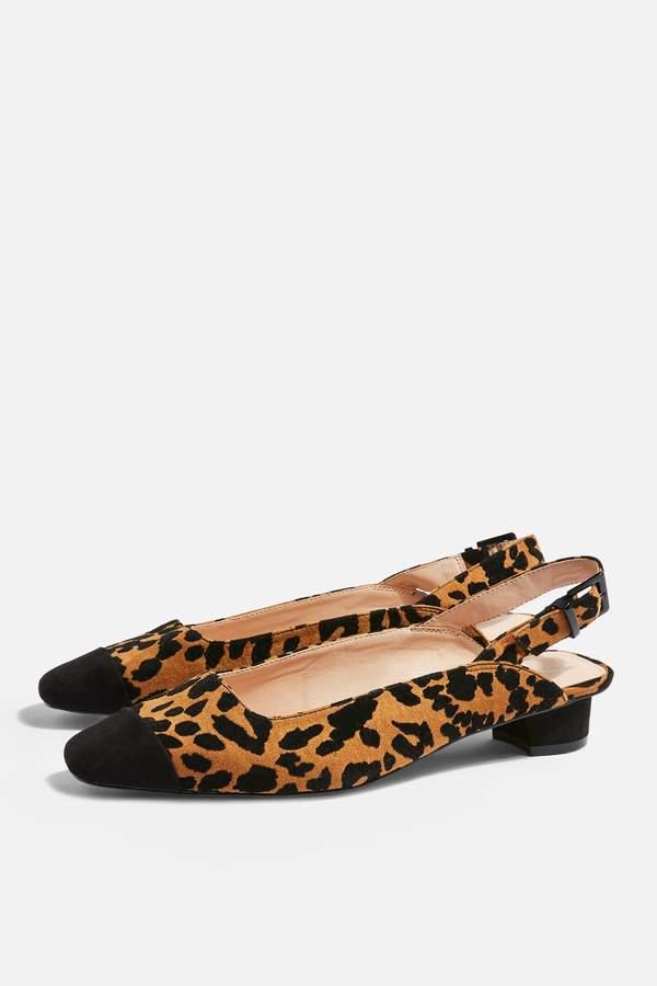 Topshop Womens Adora Structured Shoes - True Leopard
