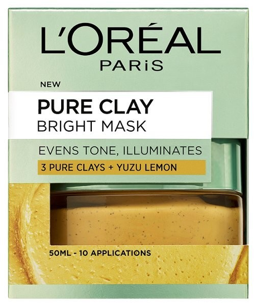 L'oreal Paris L'Oreal Paris Pure Clay Bright Face Mask 50ml