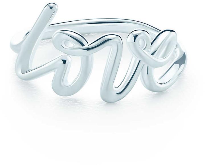 Tiffany & Co. Paloma's Graffiti love ring in sterling silver - Size 6