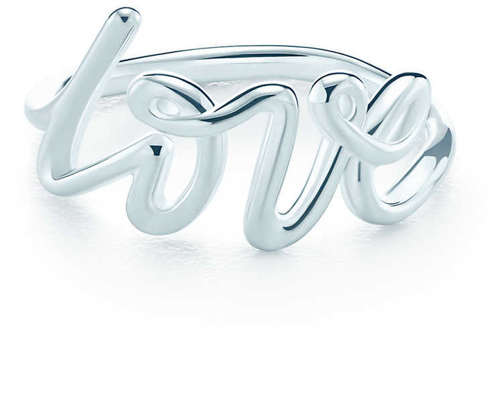 Tiffany & Co. Paloma's Graffiti love ring in sterling silver - Size 5
