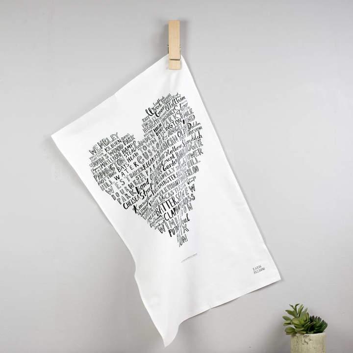 Karin Åkesson Design My Heart Belongs To London Tea Towel