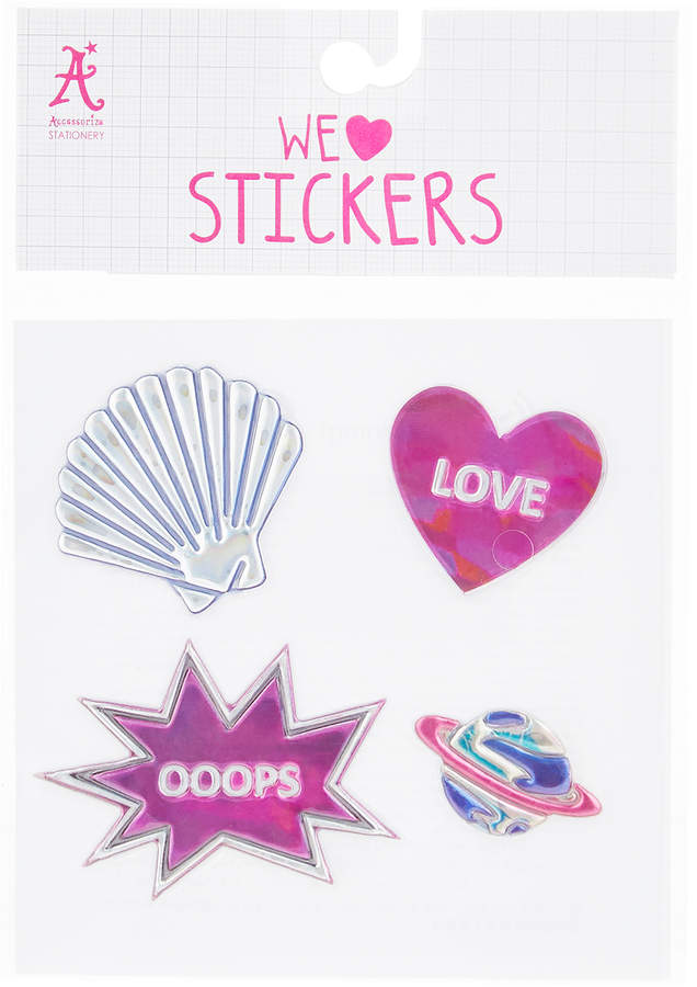 Accessorize Mermaid At Heart Iridescent Icon Stickers