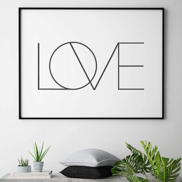 JO HILL - ART PRINTS Love Print