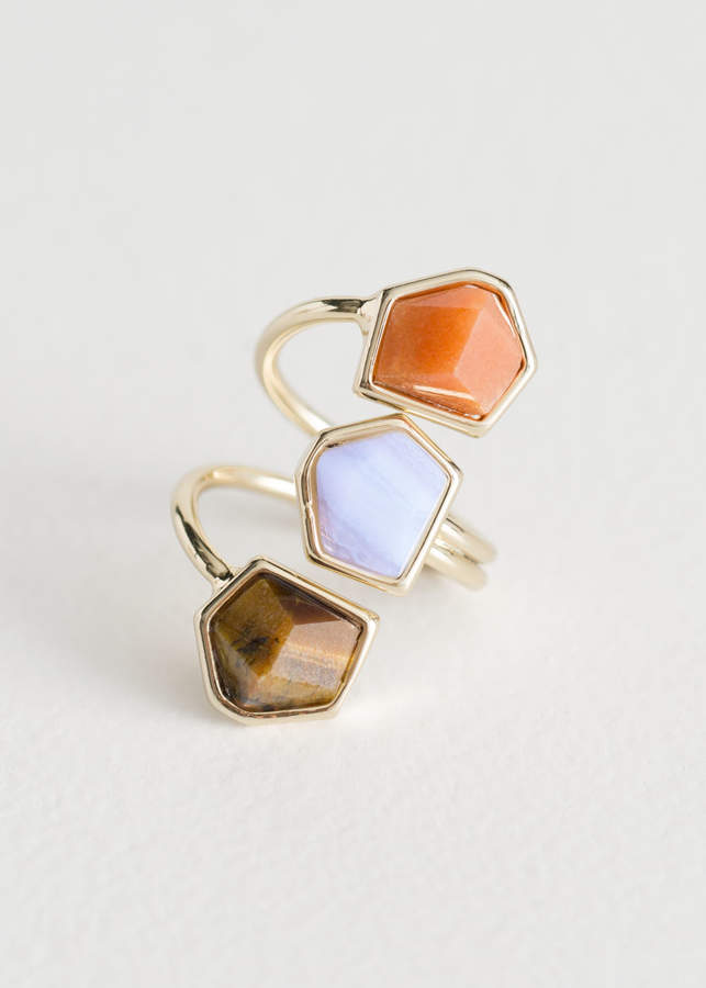 And other stories Trio Stone Swirl Ring