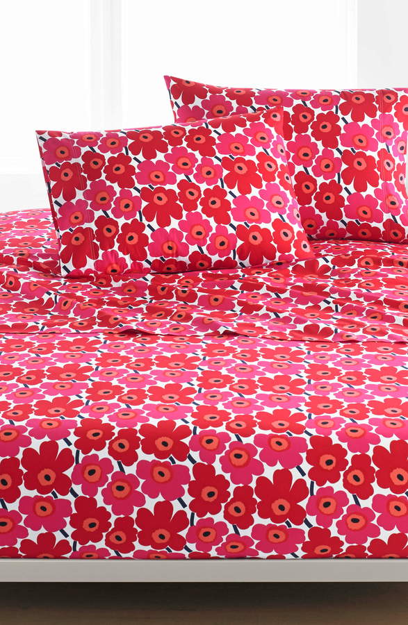 Marimekko Unikko 200 Thread Count Cotton Sheet Set