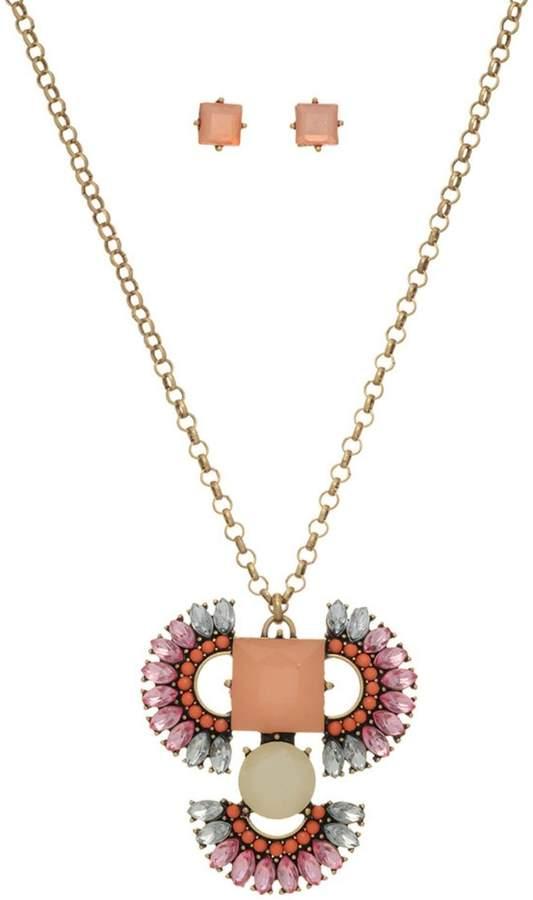 Mimi's Gift Gallery Peach Boho Necklace/set