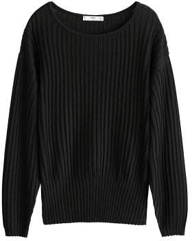 Textured ribbed sweater